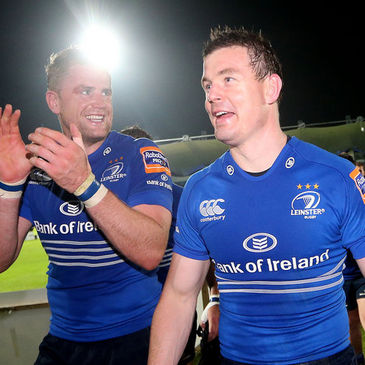 Leinster's Jamie Heaslip and Brian O'Driscoll