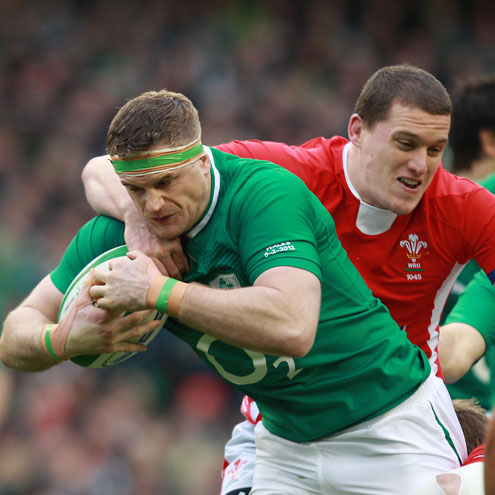 Jamie Heaslip in action against Wales