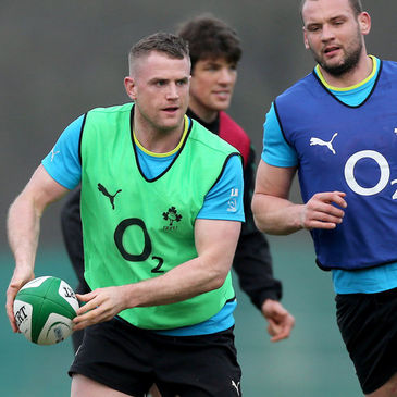 Jamie Heaslip training with the Ireland squad