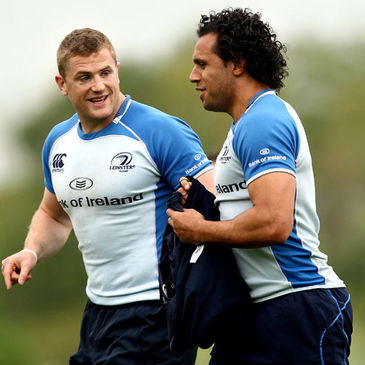 Leinster's Jamie Heaslip and Isa Nacewa