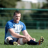 Jamie Heaslip takes a breather during the squad's runout at their Thornfield training base
