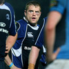 Leinster number 8 Jamie Heaslip sports a shiner after getting involved in a fight which earned him a yellow card