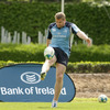 Jamie Heaslip, hailed by Malcolm O'Kelly as 'the complete number 8', practices his kicking in the Dublin sunshine