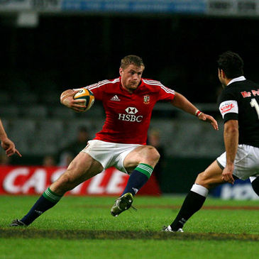 Jamie Heaslip is pictured in action against the Sharks