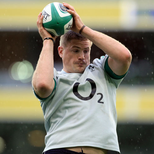 Photos of the Ireland players training at the Aviva Stadium
