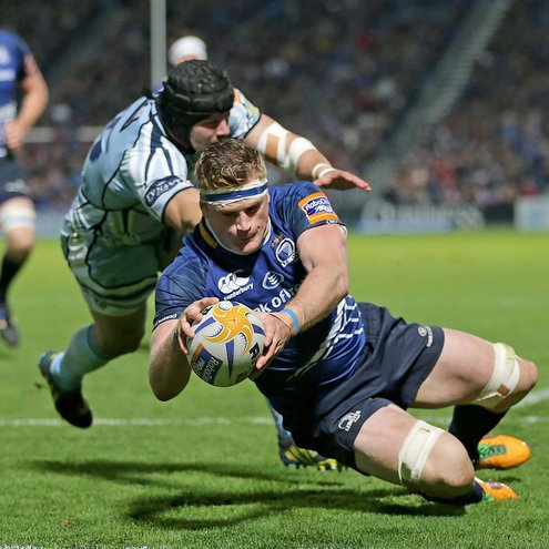 Jamie Heaslip scoring a try against Cardiff