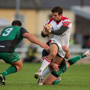 Ulster's Jared Payne in action against Connacht