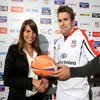 Ulster full-back and try scorer Jared Payne is pictured receiving his man-of-the-match award from RaboDirect's Claire Conroy