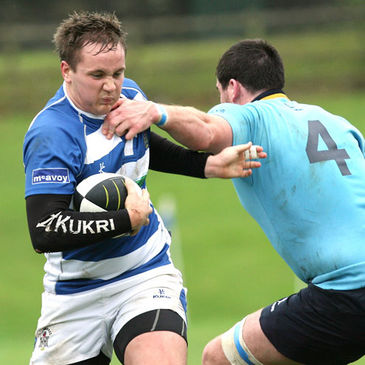 Out-half Jaryd Bennett in action for Dungannon