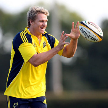 Jean de Villiers trains with Munster