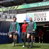 Shane Jennings, Ronan O'Gara and Geordan Murphy are pictured together before the start of the Captain's Run session in Auckland