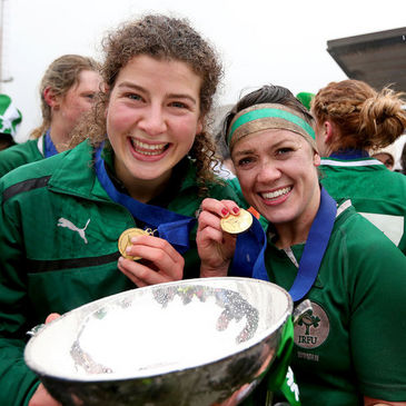 Ireland centres Jenny Murphy and Lynne Cantwell