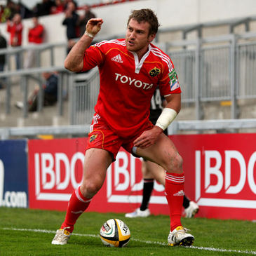 Munster's Jeremy Manning celebrates against Ulster Ravens