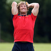 Jerry Flannery pushes himself as he works on the elbow injury he picked up before the recent Lions tour