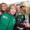 Jerry Flannery is clearly passing on some hairstyling tips to this group of girls in green. Will we get a repeat of the 'My hair is more important than timekeeping' incident from a past tour?