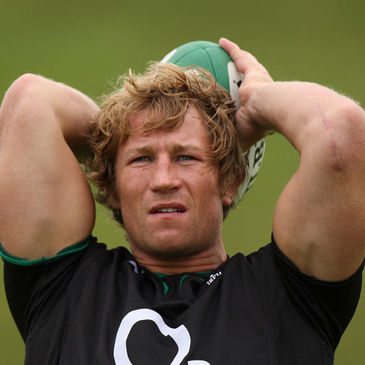 Jerry Flannery training with Ireland