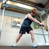 Jerry Flannery puts in his time in the gym as the players prepare for Ireland's Rugby World Cup opener against the USA
