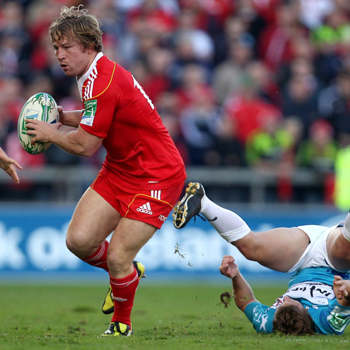 Jerry Flannery in action for Munster against Toulon