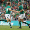 There was a further change to the Irish front row as fit-again hooker Jerry Flannery came on in place of Rory Best