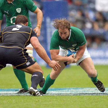 Jerry Flannery returned from injury for Ireland