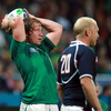 Jerry Flannery, who kept up Ireland's high standards in the lineout, got a 19-minute runout as a replacement for try-scoring hooker Rory Best