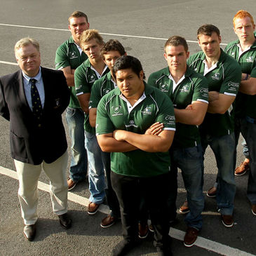 Connacht Branch President Jim Foy is pictured with the new signings