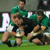 Rob Kearney and Shane Jennings, who replaced John Muldoon, could not prevent New Zealand's Jimmy Cowan from scoring one of his two tries