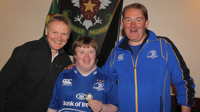 Joe Schmidt with Simon Boyd and Barry Coade