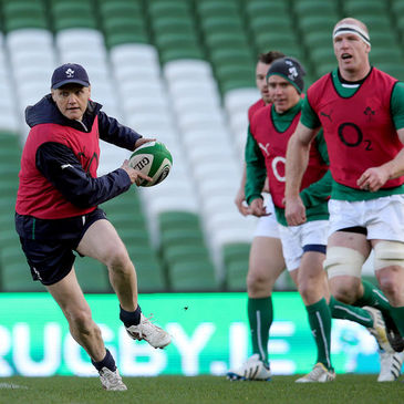 Joe Schmidt got involved in training