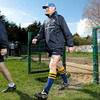 Leinster head coach Joe Schmidt is seen arriving for the squad session, as the province's focus switches to the Heineken Cup quarter-final against Leicester Tigers