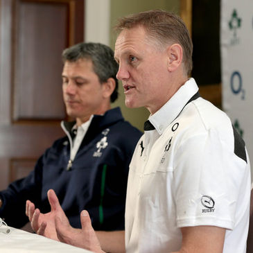 Ireland coaches Les Kiss and Joe Schmidt