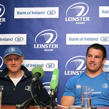 Leinster's Joe Schmidt and Sean O'Brien
