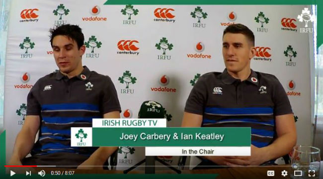Ireland out-halves Joey Carbery and Ian Keatley