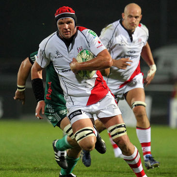 Johann Muller in Heineken Cup action for Ulster