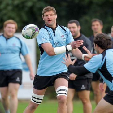 Johann Muller training with the Ulster squad