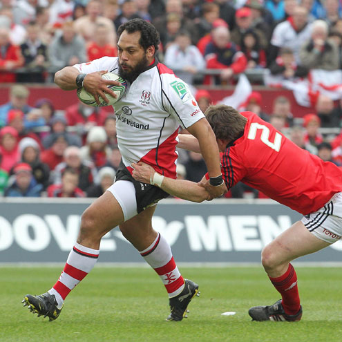 Ulster's John Afoa in action against Munster