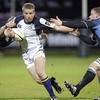 Winger Luke Fitzgerald leads a counter attack for Leinster during Friday's Magners League clash