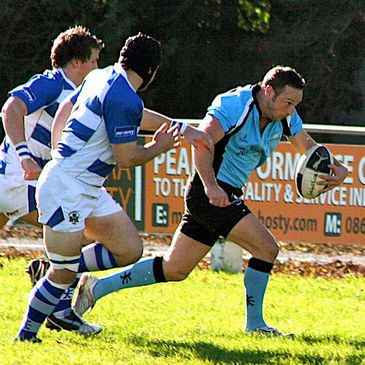 Team captain John Cleary attacks for Galwegians
