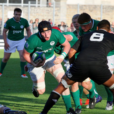 John Donnan on the charge for the Ireland Under-20s