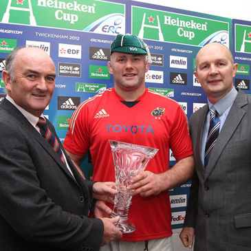 John Hayes became the first player to make 100 Heineken Cup appearances
