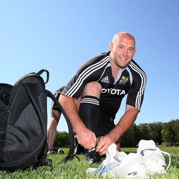 John Hayes at a recent Munster training session