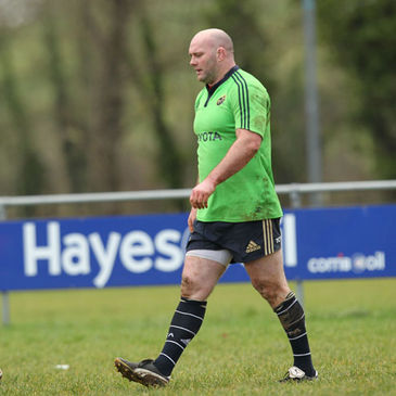 John Hayes trained with his Munster team-mates at Bruff RFC earlier this week