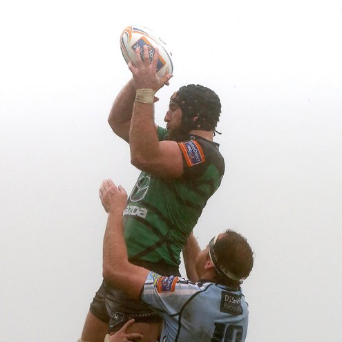 Connacht's John Muldoon gathers a lineout ball