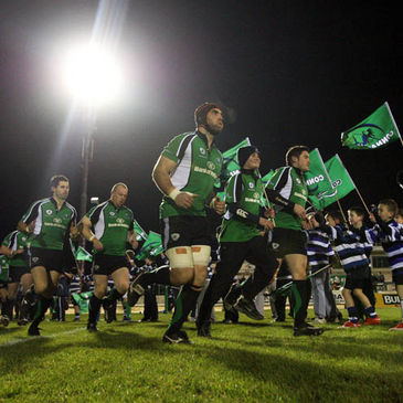 John Muldoon leads out the Connacht team
