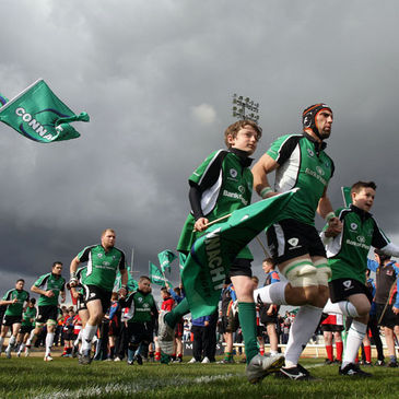 John Muldoon leads the Connacht team out