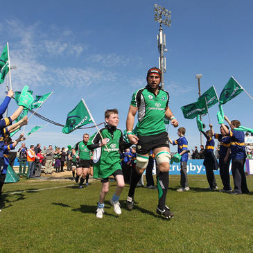 John Muldoon leading the Connacht team out