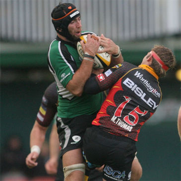 Connacht captain John Muldoon collects a high ball