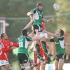 Connacht captain John Muldoon taps a lineout ball down as the westerners try to mount a comeback