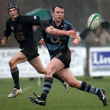 Shannon flanker John O'Connor gets a pass away