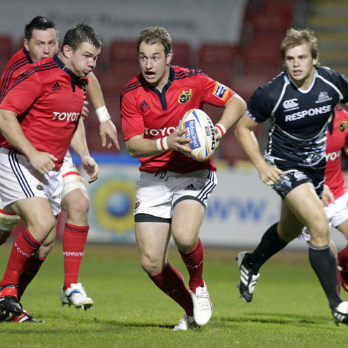 Johne Murphy in action for Munster